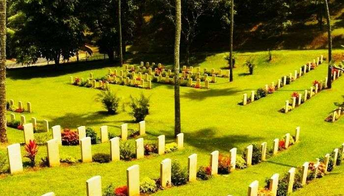 The Commonwealth War Cemetery in Sri Lanka