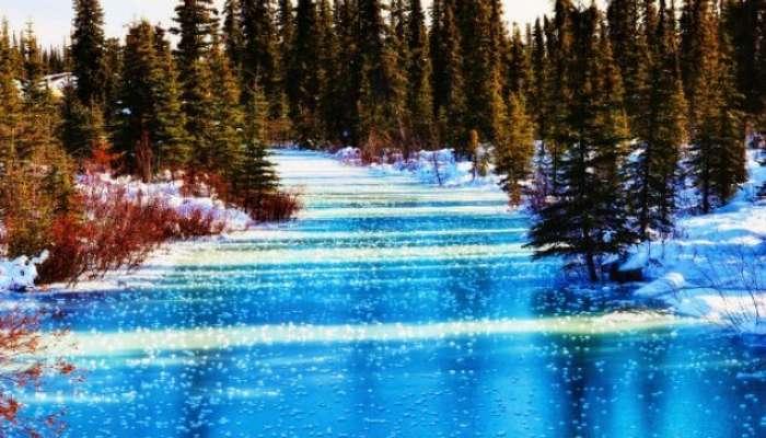 Kış aylarında Alaska'da demirleme