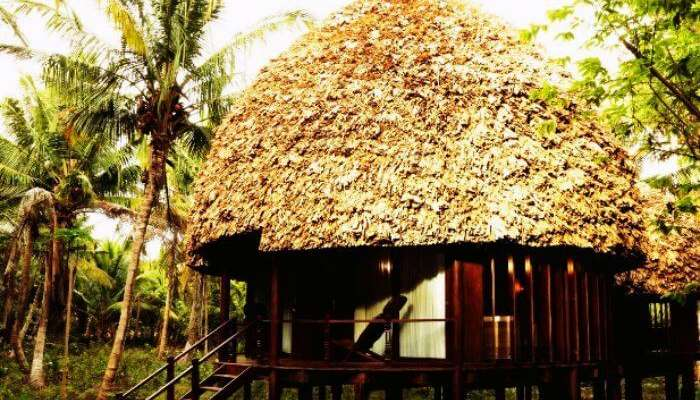 A typical Andanamese cottage at Barefoot At Havelock
