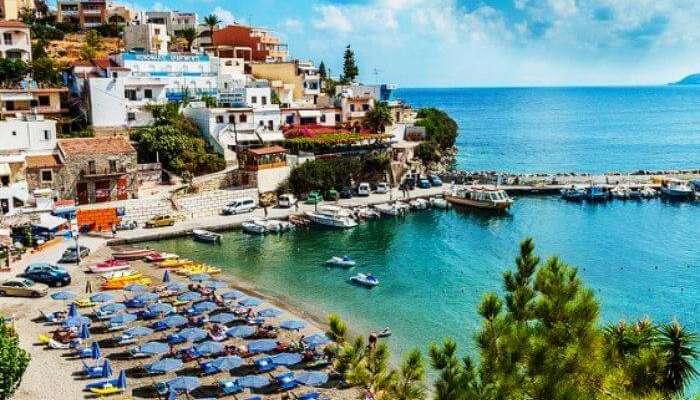 Yunanistan'da Girit'in üstten görünümü