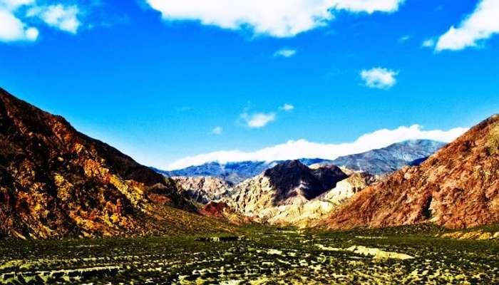 Mendoza'nın güzel kayalık arazileri