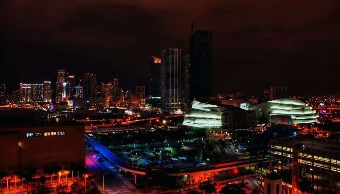 Night view in Miami