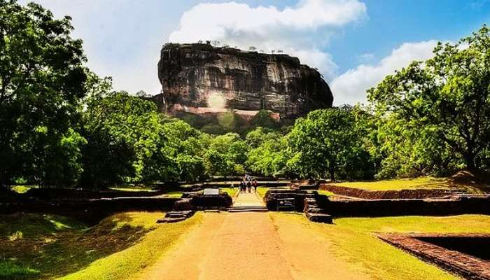 SigiriyaRock Fortress in Sri Lanka is amongst the many beautiful places in Sri Lanka