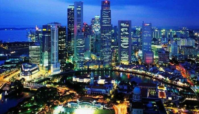Dünyadaki bir başka popüler balayı yeri - göz kamaştırıcı Singapur şehri