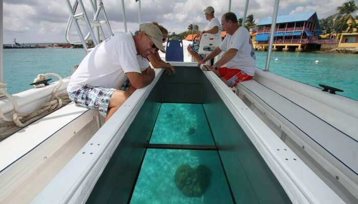 glass bottom boating in Andaman