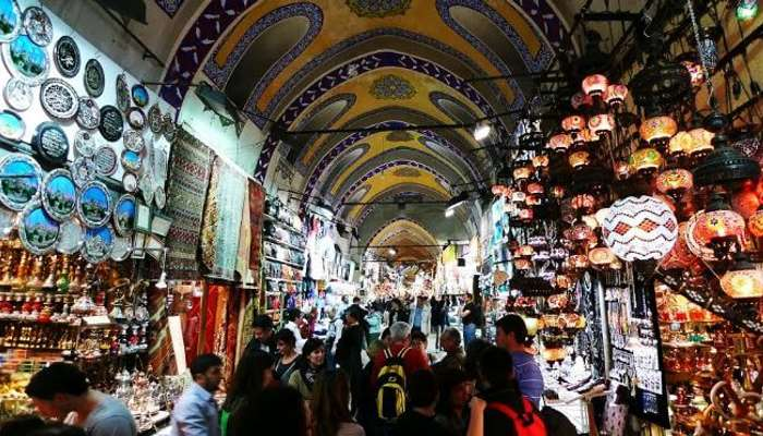A regular day at Grand Bazaar, one of popular tourist places in Turkey
