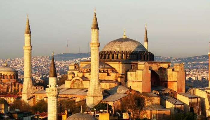 Historical monument Hagia Sophia is now a museum