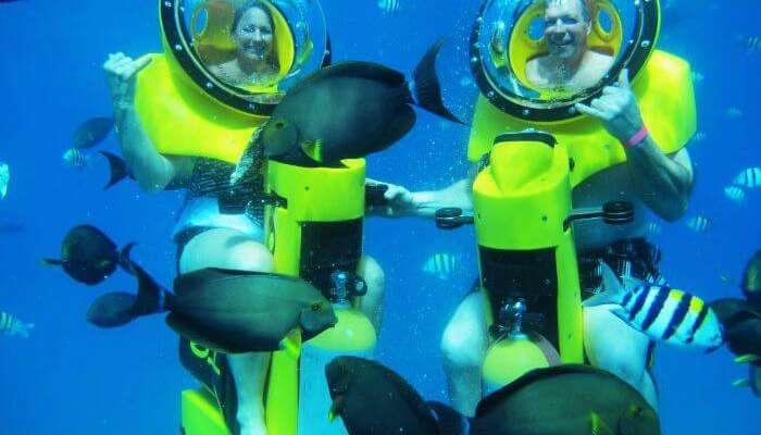 Underwater scooter in Mauritius