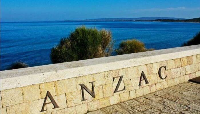 Anzac cove is a site of World War I