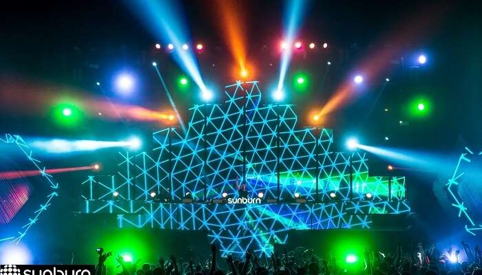 Sunburn Party at Goa is a major crowd puller