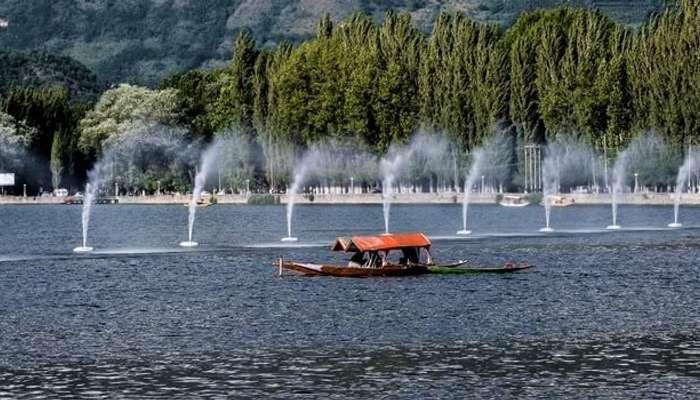 Shikara at Dal Lake in Kashmir