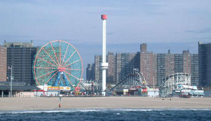 view of coney island