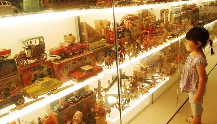 Various exhibits at Mint Museum of Toys the top amongst the interesting historical places in India