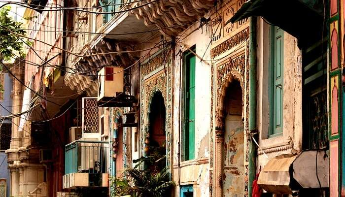 One of the houses from the nine homes of Naughara near Chandni Chowk