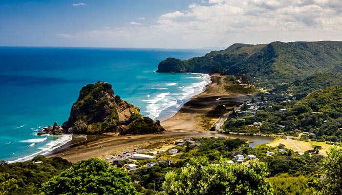 One of the best beaches in New Zealand- The black sand beach Piha