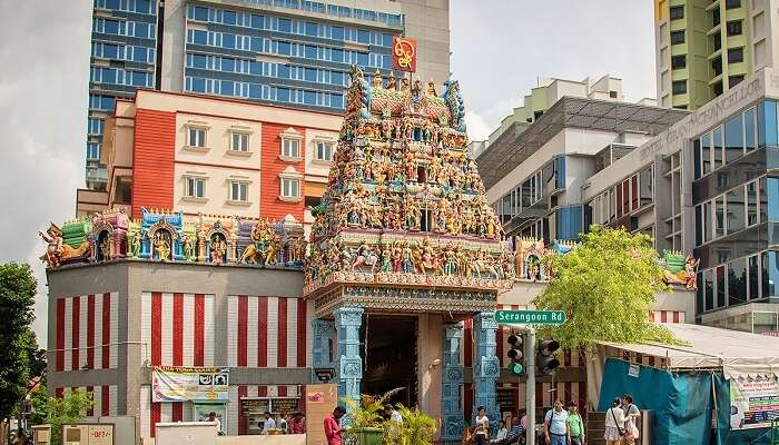Sri Veeramakaliamman Temple is among the most colorful historical places in Singapore