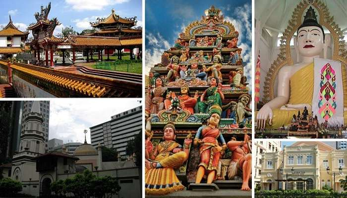 The many religious places in Singapore