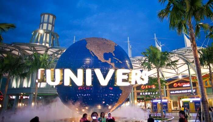 The famous universal studios in Singapore