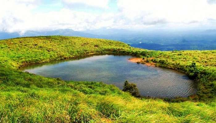The heart-sjaped Chembra Lake in Western Ghats is one of the top unexplored places in India