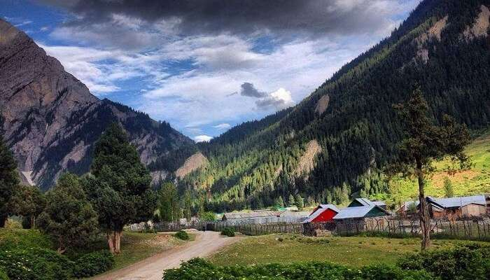 The quaint settlement in Gurez Valley in Kashmir