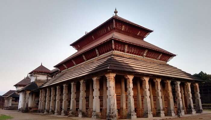 Thousand pillared Jain Temple in Moodbidri in Karnataka