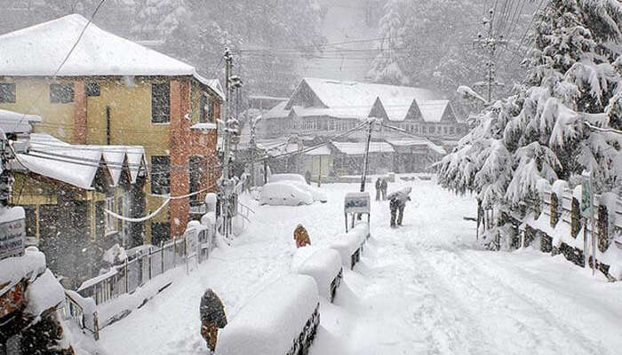 Snow-capped Dalhousie in Himachal Pradesh