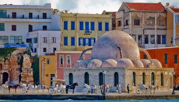 An ancient structure in Chania Town which is one of the best places to visit in Greece