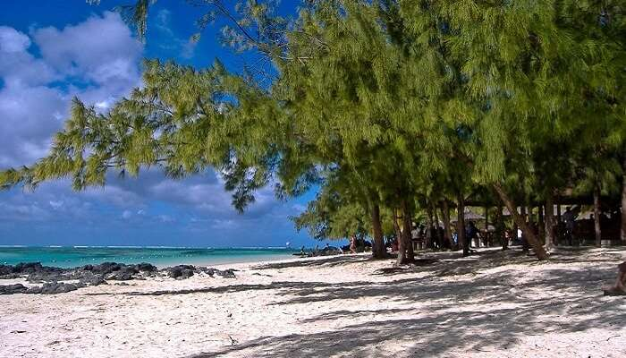 famous beach in Mauritius