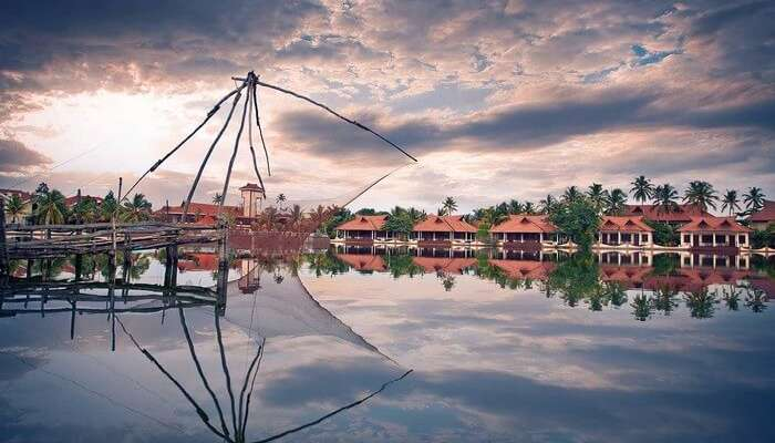 The mesmerising views from the Lake Palace resort - one of the popular resorts in Alleppey