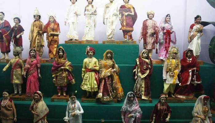 dolls in a doll museum in Delhi