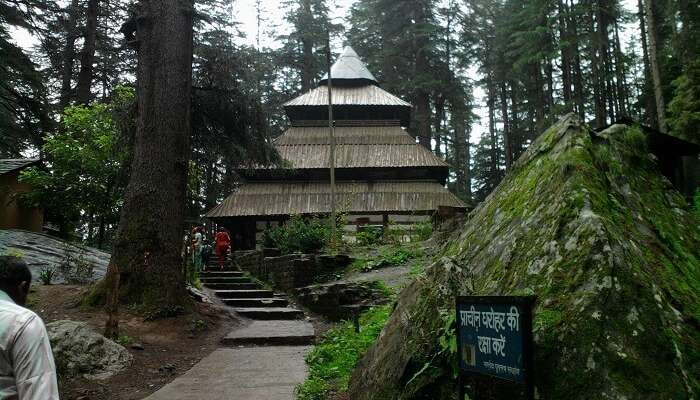 The entrance of the Hadimba Temple that is one of the best places to visit in Manali
