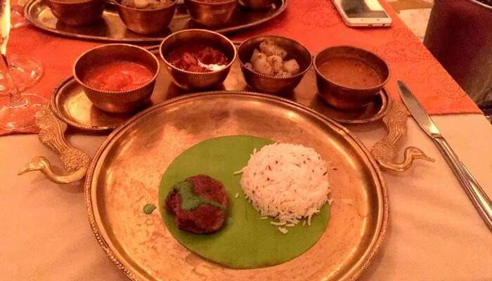 A grand Indian thali in Mauritius