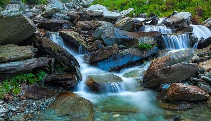 Mesmerizing Bhagsu Falls flowing in Dharamshala