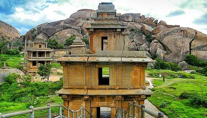 Elaborate ruins and structures erected at Chitradurga Fort - One of the best places to see in Karnataka