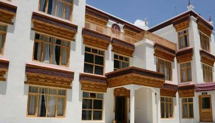 Facade of Gomang Boutique Resort In Leh Ladakh