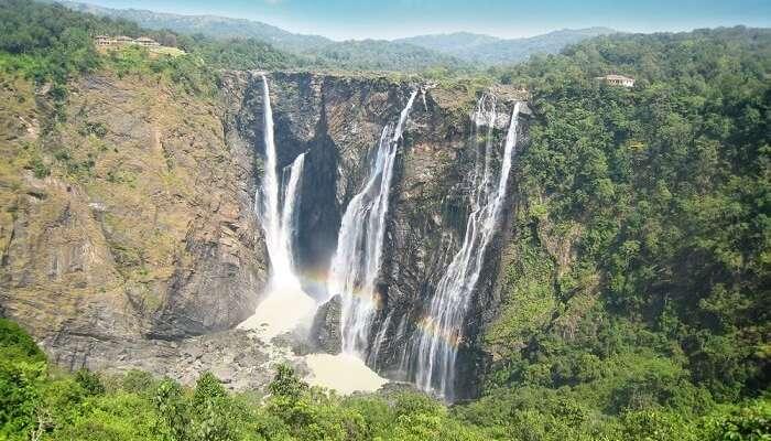 The mesmerizing Jog falls plunging from mountain-top in Karnataka