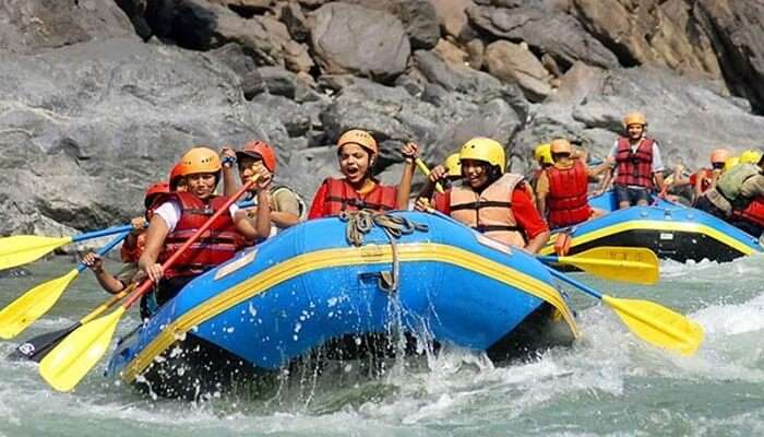 The stretch in Kaudiyala is one of the best rafting stretches in India
