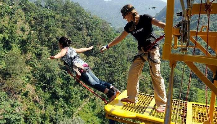 Bungee jumping in Rishikesh is one of the most sought after adventures in Rishikesh