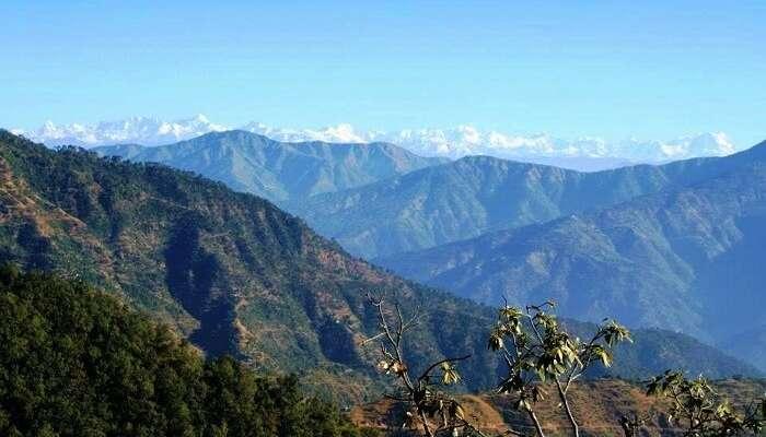 Enjoy the panoramic views of the Himalayan peaks from the Kunjapuri point in Rishikesh.