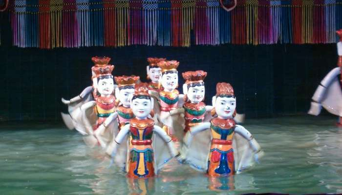 Golden dragon water puppet theatre