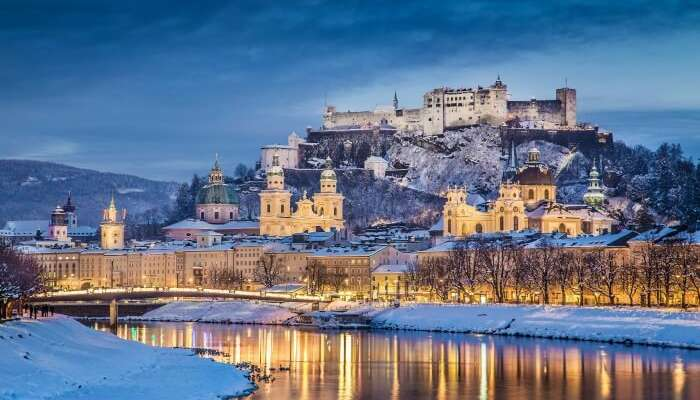 Winter in Salzburg adds charm to your honeymoon in Europe