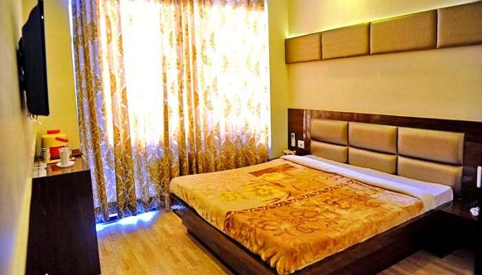 One of the beautiful looking rooms at the Hotel Jannat in Ajmer