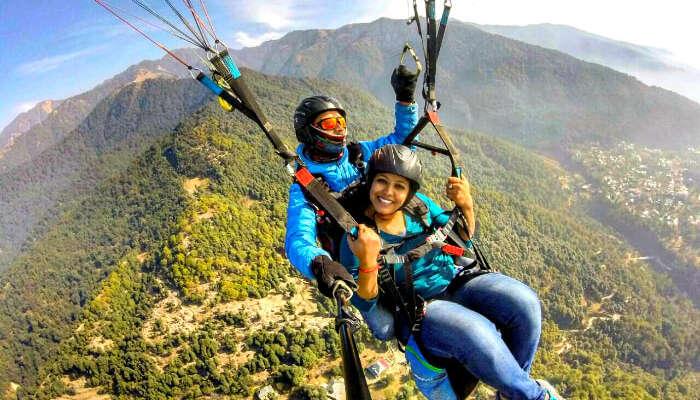 radhika paragliding in Bir Billing