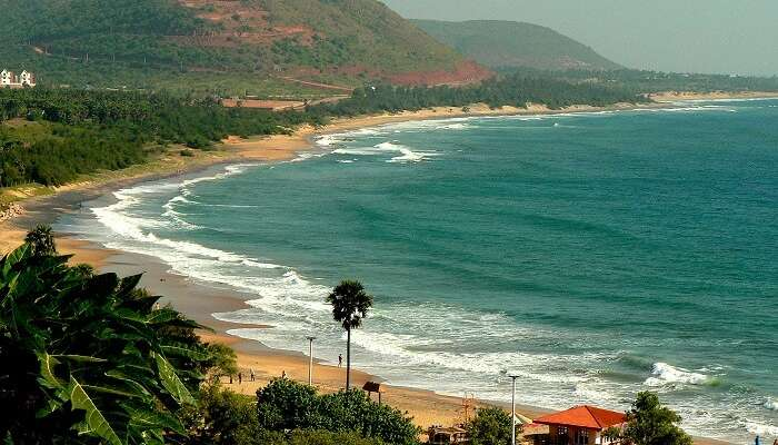 The Rushikonda Beach in Andhra Pradesh