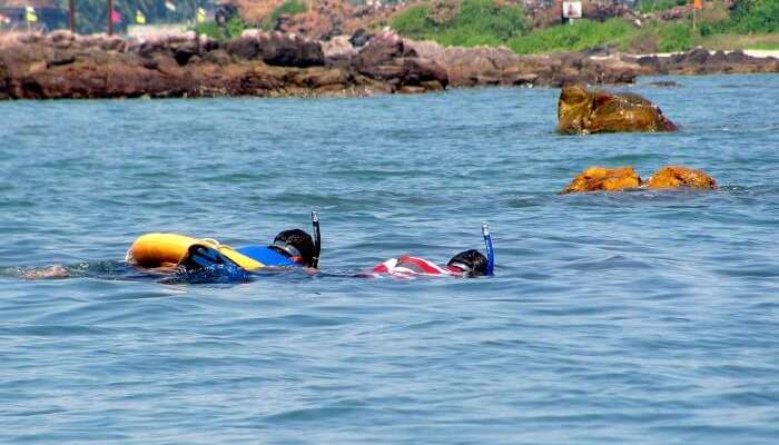 Tourists engage themselves in snorkeling at Tarkarli that makes it one of the best spots for family beach vacations