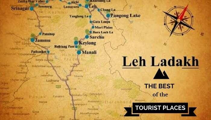 Image result for leh ladakh map