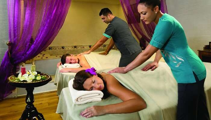 Romantic spa date for couples in Dubai