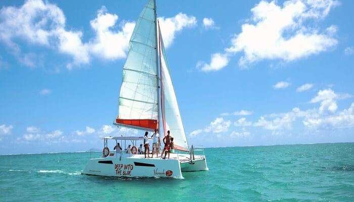 Gabriel Island catamaran