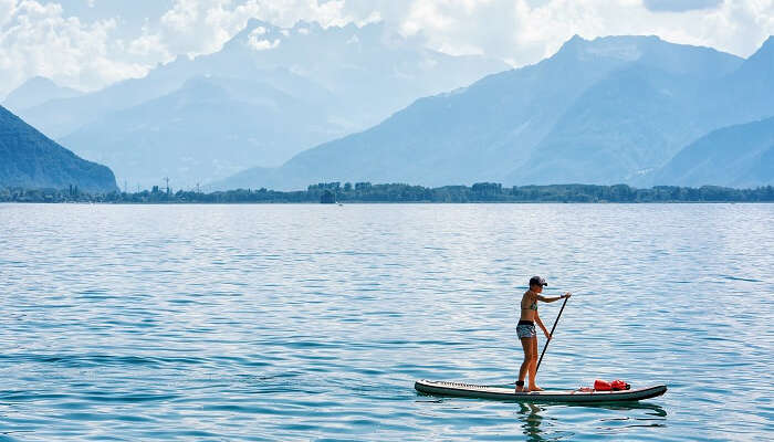 Lake geneva paddle boarding