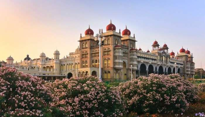 Mysore Palace during sunset